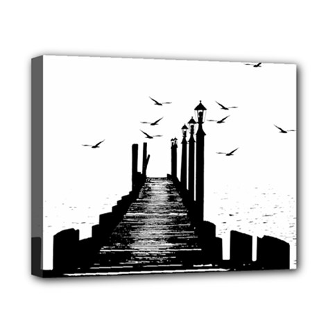 The Pier The Seagulls Sea Graphics Canvas 10  X 8