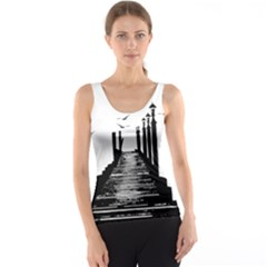 The Pier The Seagulls Sea Graphics Tank Top