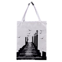 The Pier The Seagulls Sea Graphics Classic Tote Bag