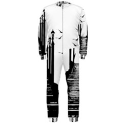 The Pier The Seagulls Sea Graphics Onepiece Jumpsuit (men)