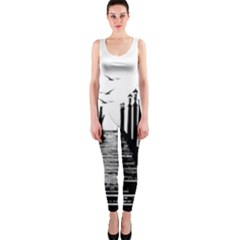 The Pier The Seagulls Sea Graphics Onepiece Catsuit