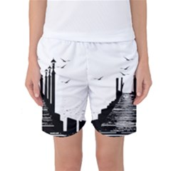 The Pier The Seagulls Sea Graphics Women s Basketball Shorts