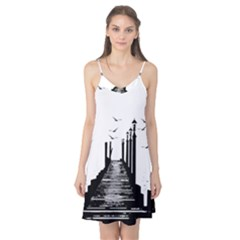The Pier The Seagulls Sea Graphics Camis Nightgown