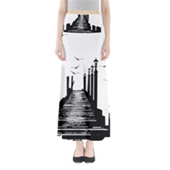 The Pier The Seagulls Sea Graphics Maxi Skirts