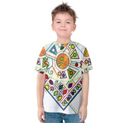 Vector Icon Symbol Sign Design Kids  Cotton Tee