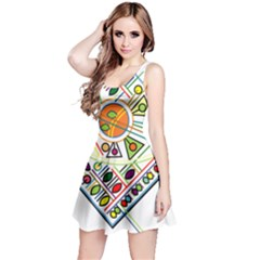 Vector Icon Symbol Sign Design Reversible Sleeveless Dress