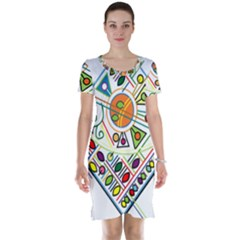 Vector Icon Symbol Sign Design Short Sleeve Nightdress