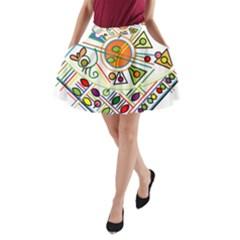 Vector Icon Symbol Sign Design A Line Pocket Skirt