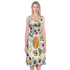 Vector Icon Symbol Sign Design Midi Sleeveless Dress