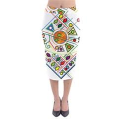 Vector Icon Symbol Sign Design Midi Pencil Skirt