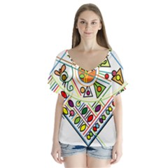 Vector Icon Symbol Sign Design Flutter Sleeve Top