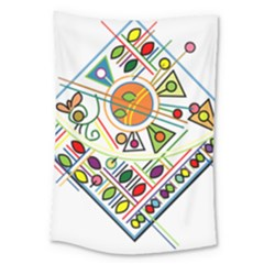 Vector Icon Symbol Sign Design Large Tapestry