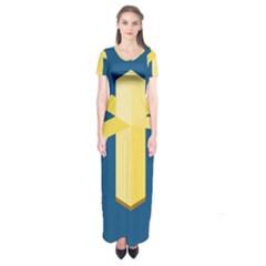 Banana Space Short Sleeve Maxi Dress