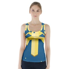 Banana Space Racer Back Sports Top