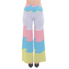 Wave Waves Pink Yellow Blue Pants