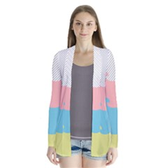 Wave Waves Pink Yellow Blue Cardigans