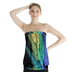 Abstract Fractal Strapless Top