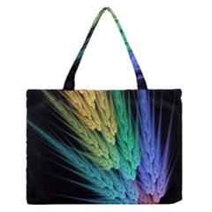 Abstract Fractal Medium Zipper Tote Bag