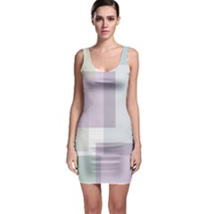 Abstract Background Pattern Design Sleeveless Bodycon Dress