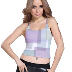 Abstract Background Pattern Design Spaghetti Strap Bra Top