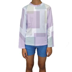 Abstract Background Pattern Design Kids  Long Sleeve Swimwear