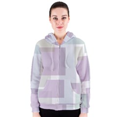 Abstract Background Pattern Design Women s Zipper Hoodie