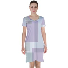 Abstract Background Pattern Design Short Sleeve Nightdress