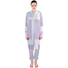 Abstract Background Pattern Design Hooded Jumpsuit (ladies)