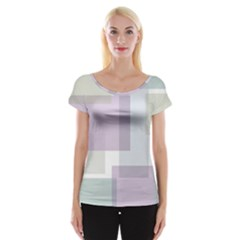 Abstract Background Pattern Design Women s Cap Sleeve Top