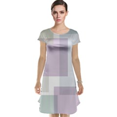 Abstract Background Pattern Design Cap Sleeve Nightdress