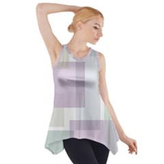 Abstract Background Pattern Design Side Drop Tank Tunic