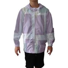 Abstract Background Pattern Design Hooded Wind Breaker (kids)
