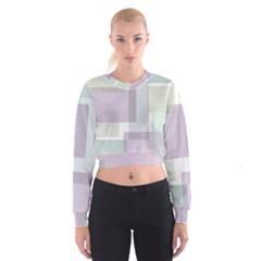 Abstract Background Pattern Design Women s Cropped Sweatshirt