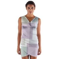 Abstract Background Pattern Design Wrap Front Bodycon Dress