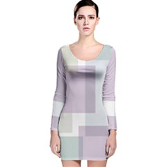 Abstract Background Pattern Design Long Sleeve Velvet Bodycon Dress
