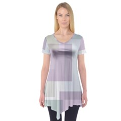Abstract Background Pattern Design Short Sleeve Tunic