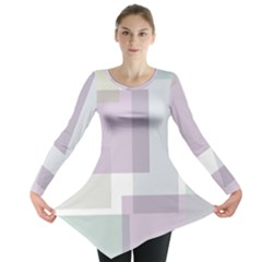 Abstract Background Pattern Design Long Sleeve Tunic