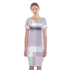 Abstract Background Pattern Design Classic Short Sleeve Midi Dress