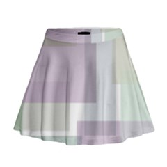 Abstract Background Pattern Design Mini Flare Skirt