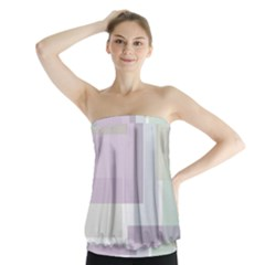 Abstract Background Pattern Design Strapless Top