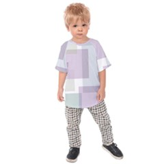 Abstract Background Pattern Design Kids  Raglan Tee