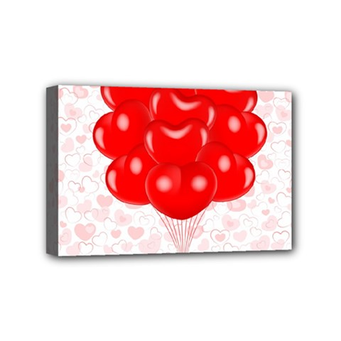 Abstract Background Balloon Mini Canvas 6  X 4