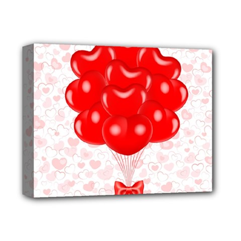 Abstract Background Balloon Deluxe Canvas 14  X 11