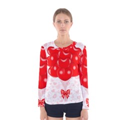 Abstract Background Balloon Women s Long Sleeve Tee