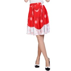 Abstract Background Balloon A Line Skirt