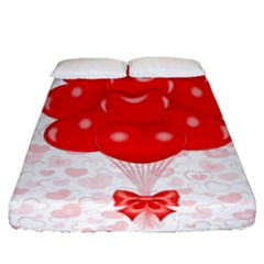 Abstract Background Balloon Fitted Sheet (queen Size)