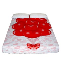 Abstract Background Balloon Fitted Sheet (california King Size)