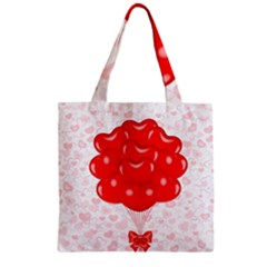 Abstract Background Balloon Zipper Grocery Tote Bag