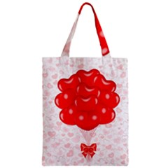Abstract Background Balloon Zipper Classic Tote Bag
