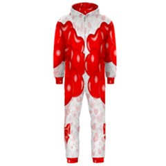 Abstract Background Balloon Hooded Jumpsuit (men)